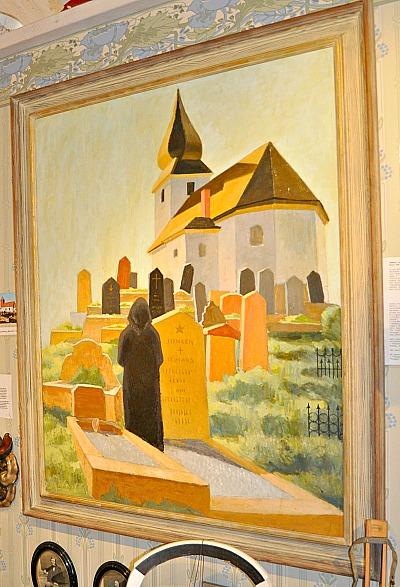 Besök på kyrkokgården